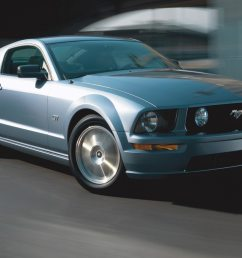 2005 ford mustang gt coupe silver in motion [ 2048 x 1360 Pixel ]