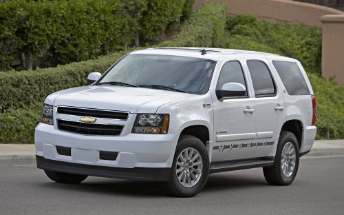small resolution of 2008 chevrolet tahoe hybrid front three quarter