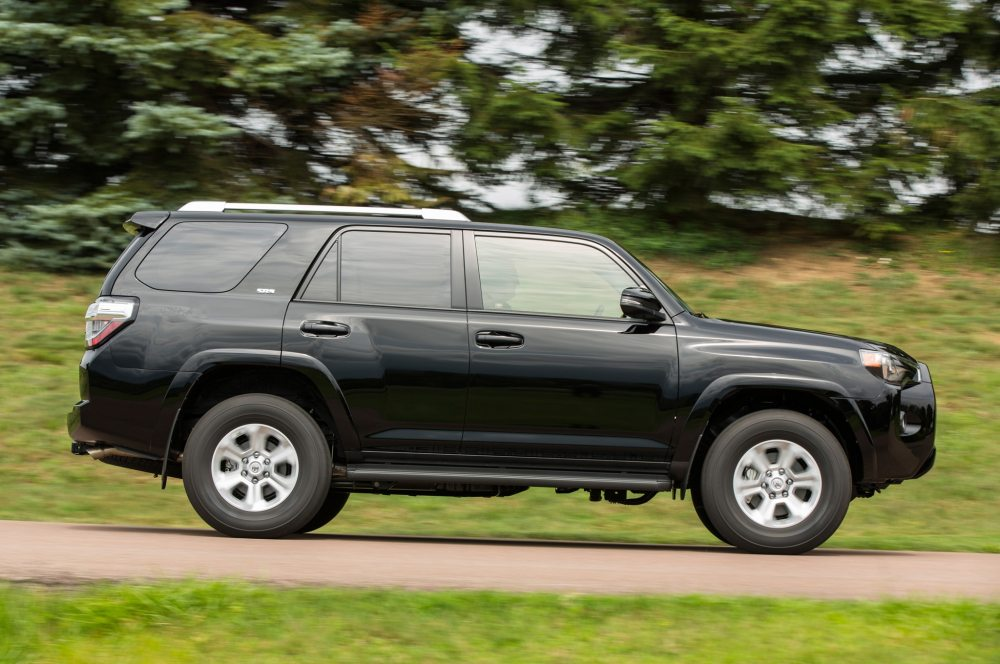 medium resolution of 2015 toyota 4runner sr5 side profile in motion