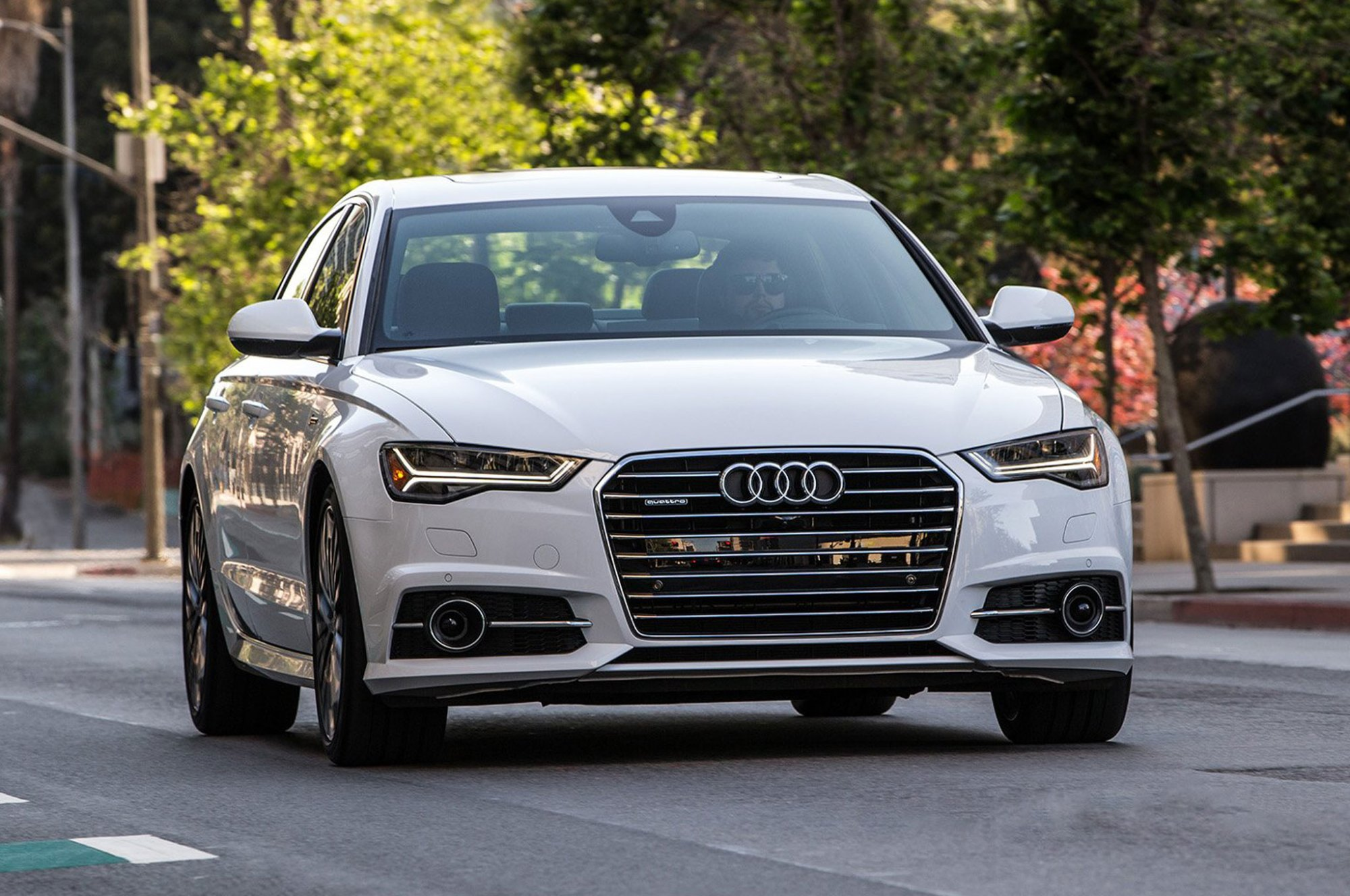 hight resolution of 2016 audi a6 3 0t front view in motion