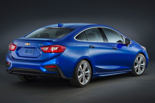 small resolution of 2016 chevrolet cruze premier rear side view