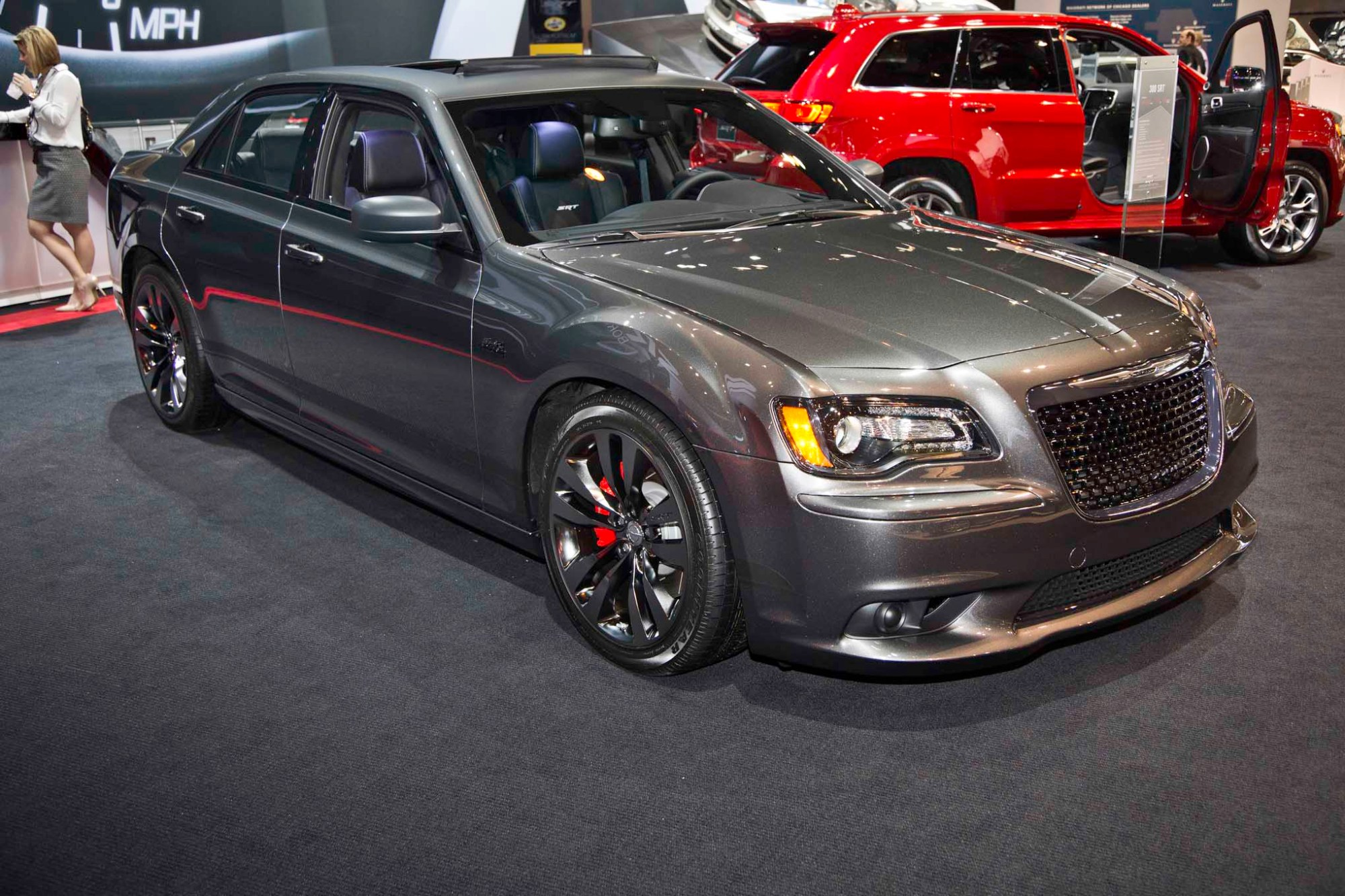 hight resolution of 2014 chrysler 300 srt satin vapor edition front three quarter