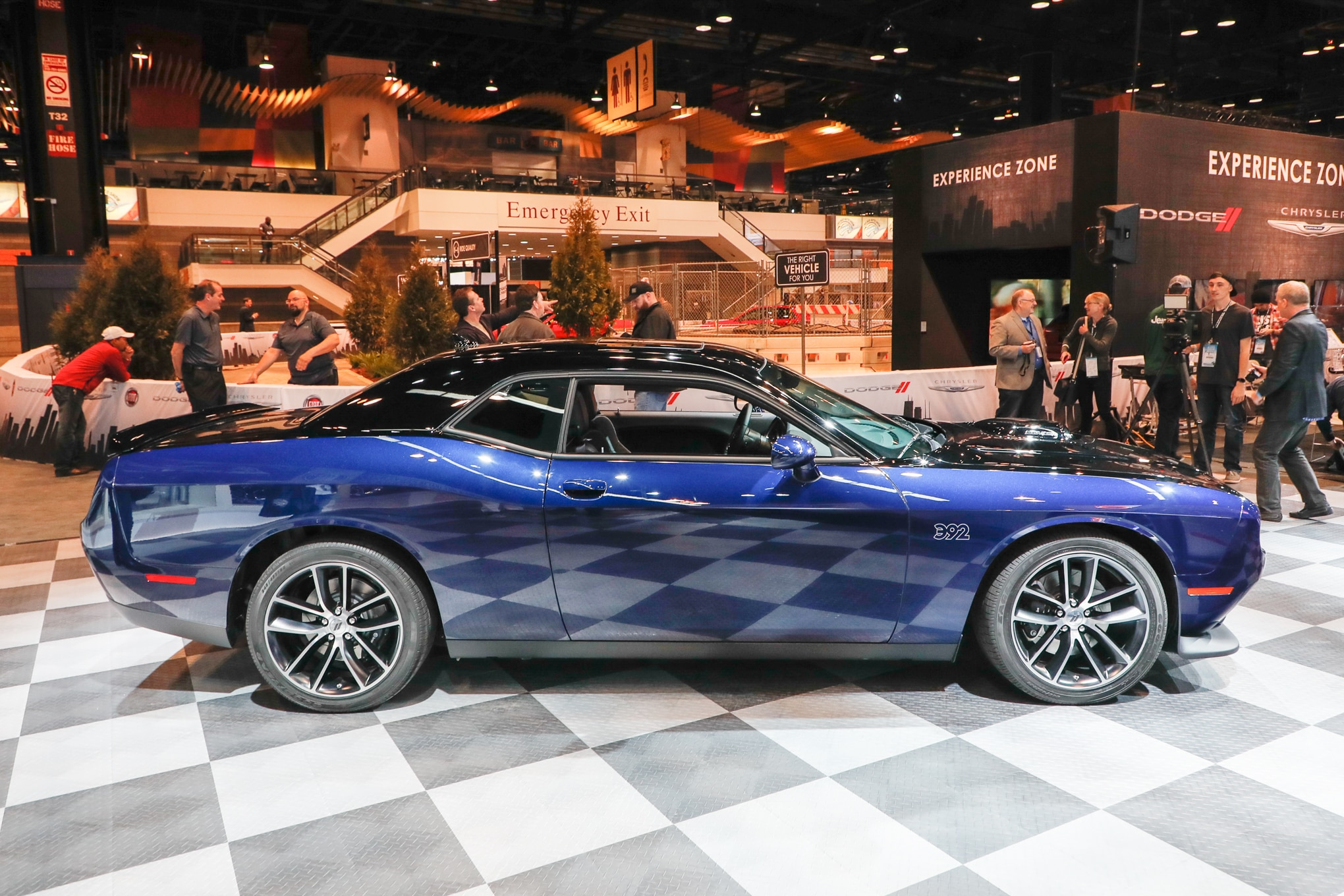 medium resolution of a sixspeed manual backs up the v while a new set of strut tower braces help increase the rigidity with dodge challenger hellcat interior manual
