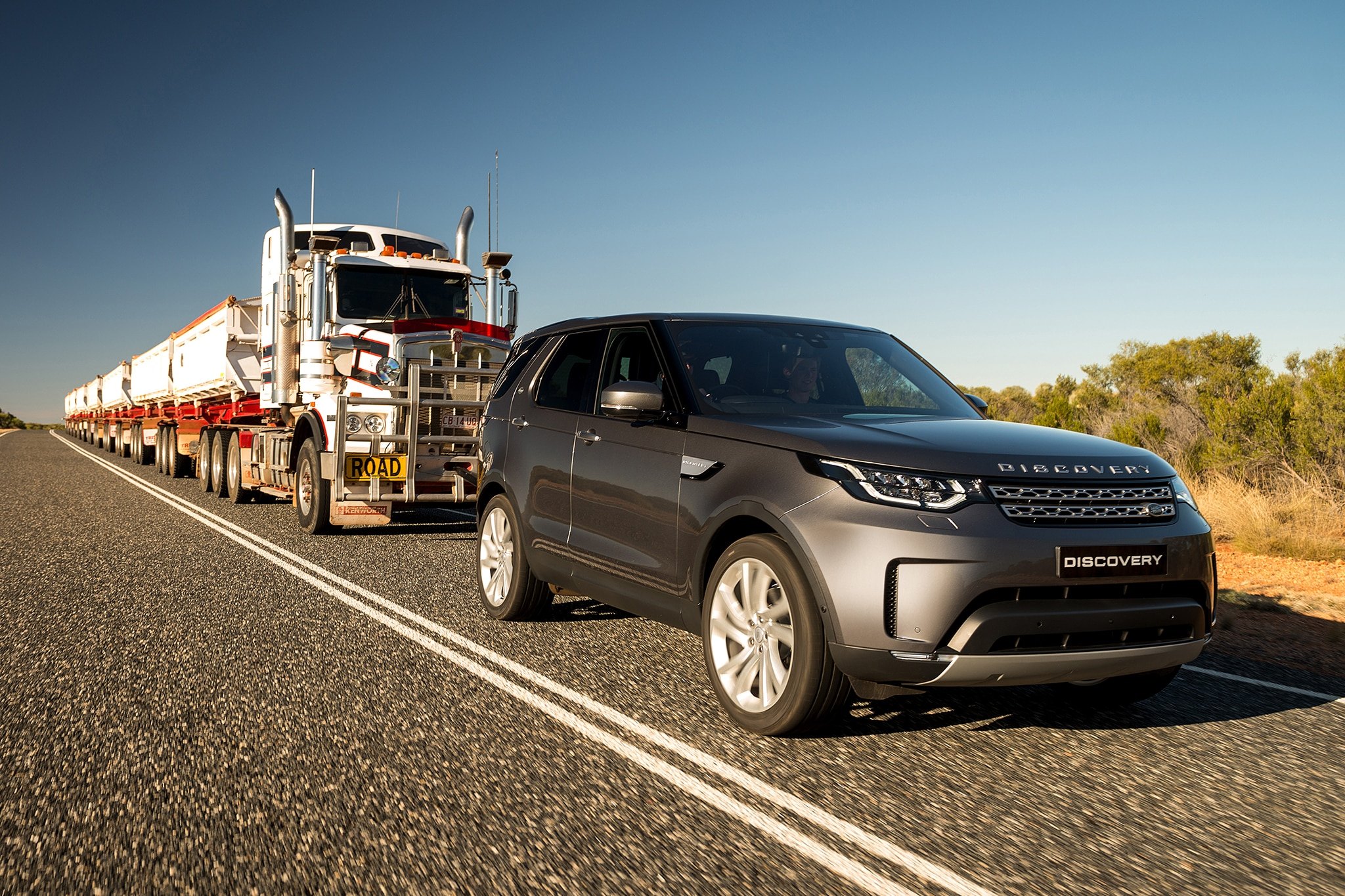 2018 Land Rover Discovery Tows 121 Ton Road Train Down Under