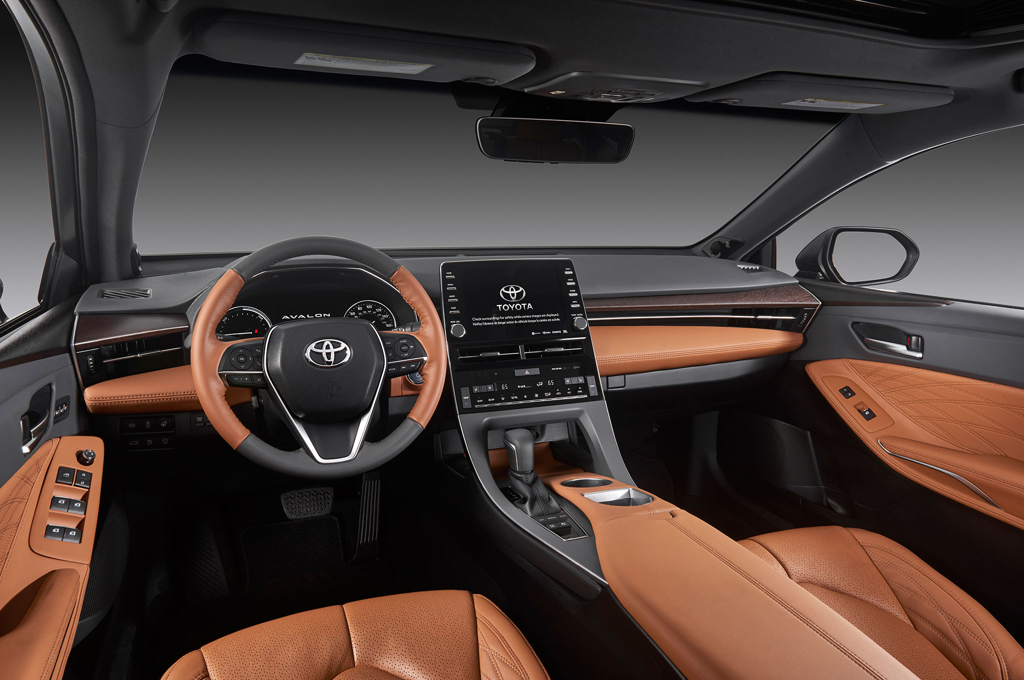 all new camry 2019 interior kijang innova diesel 2017 toyota avalon debuts in detroit automobile magazine inside went to great lengths separate the from smaller a floating center stack provides sculptural design that