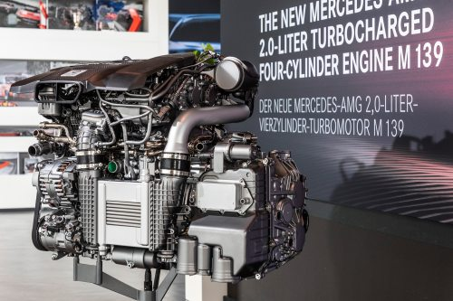 small resolution of amg has a 416 hp four cylinder here s what you need to know toyota supra engine diagram a detuned 500 hp engine