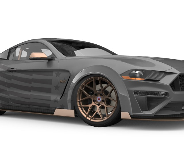 Mustang Parts Retailer Cj Pony Parts Returns To Sema With A Mustang Gt Drift Car Though Its Hard To See In This Rendering The Pony Car Wears A Stars And