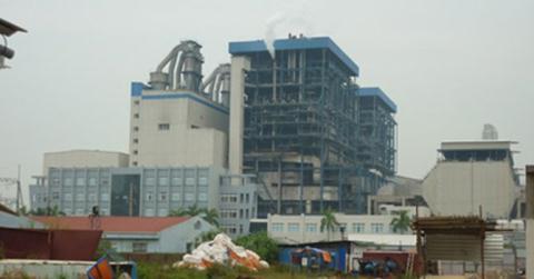 Nhà máy nhiệt điện Hải Phòng, công trình do nhà thầu Trung Quốc thi công.