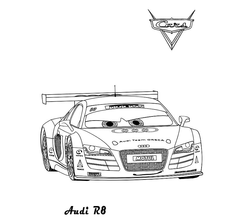 Audi R8 Coloring Book Coloring Pages