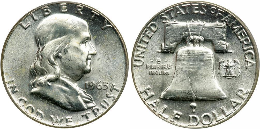 Moneta 1/2 Dollaro Stati Uniti DAmerica (1776 - ) Argento 1948-1963