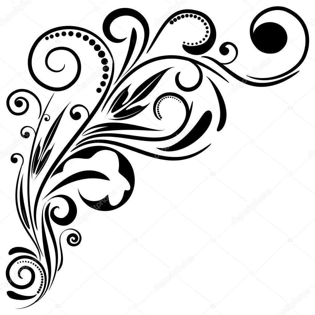 Ornament floral design, vector illustration EPS8. — Stock