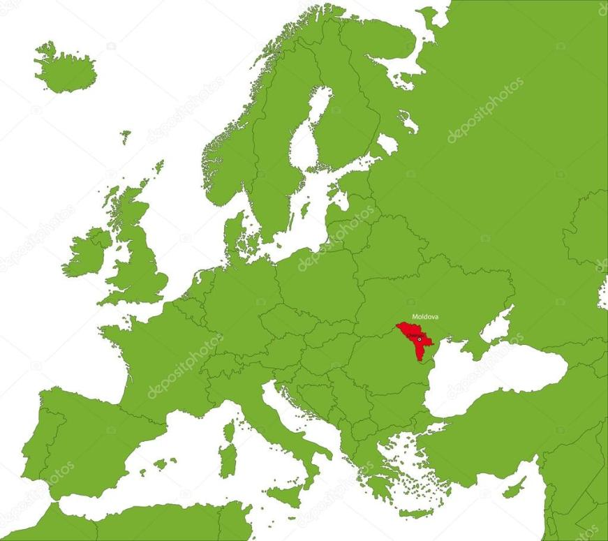 Moldawien Karte — Stockvektor © Volina #32497027