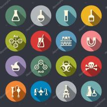 Chemical Icon Set Stock Vector Missbobbit #47801215