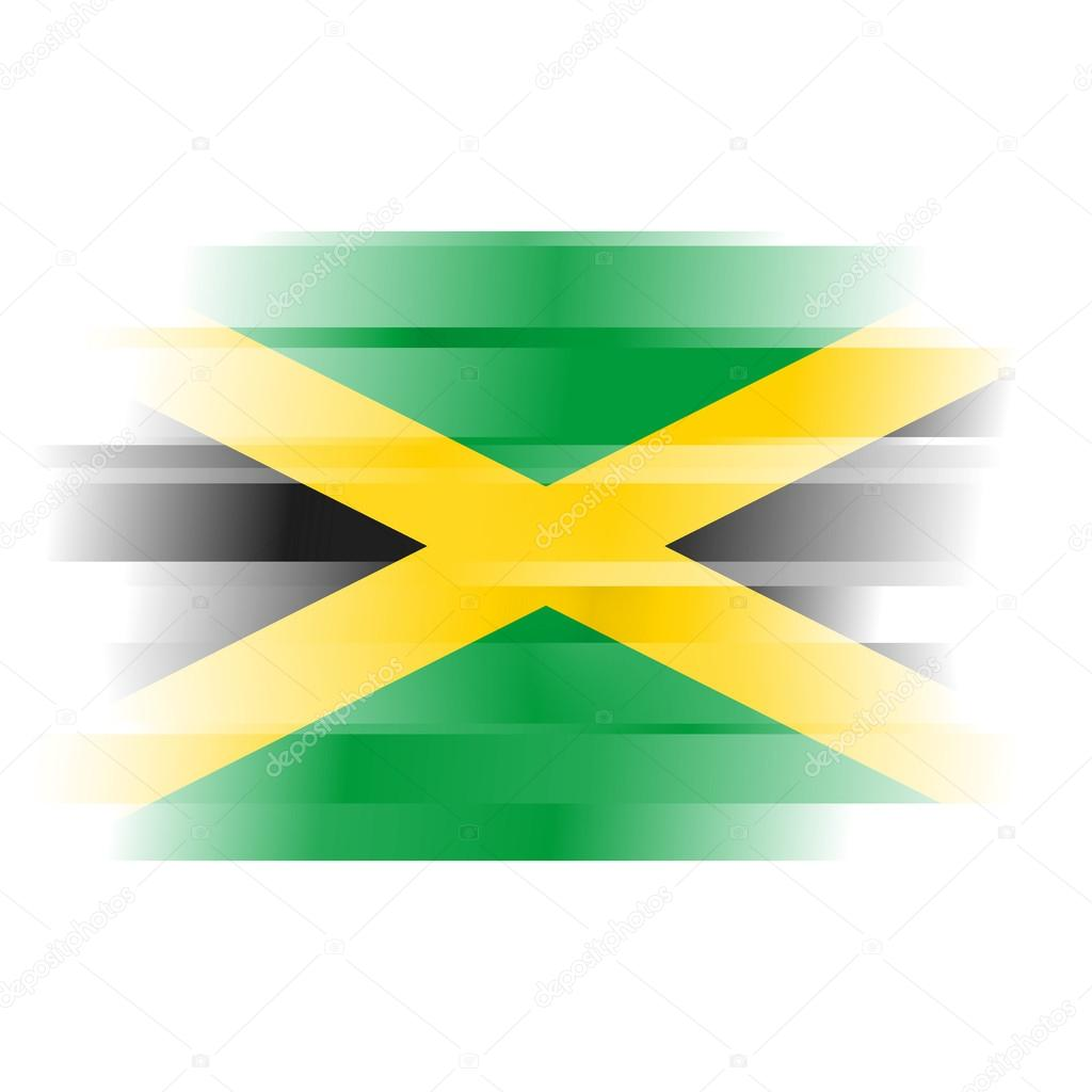 Abstract Flag Of Jamaica On White Background