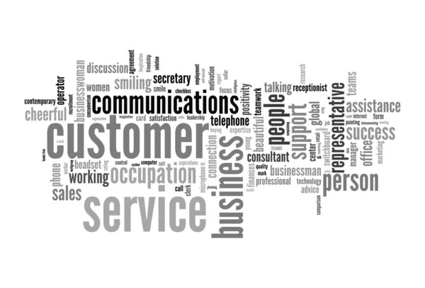 Customer service concept in word cloud — Stock Photo