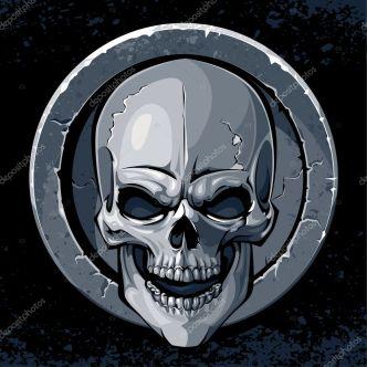 Image result for skull medallion