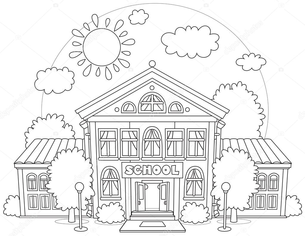 School — Stock Vector © AlexBannykh #45757221