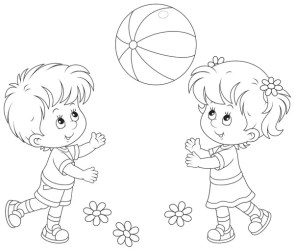 ᐈ Child black and white stock cliparts Royalty Free black children playing vectors download on Depositphotos®