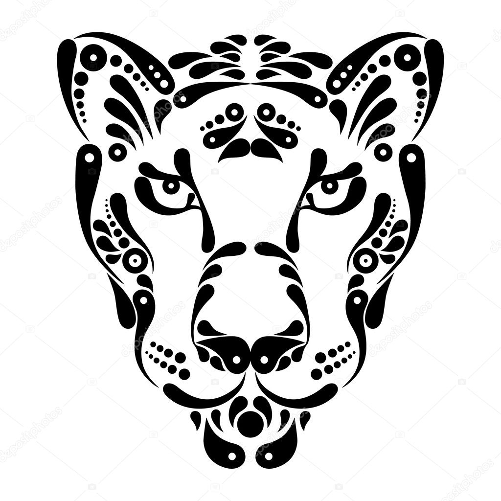 Panther Tattoo Symbol Decoration Illustration