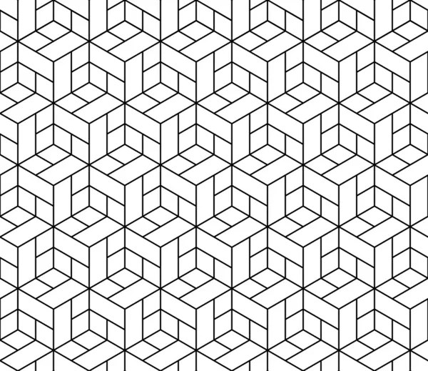 Seamless geometric pattern with cubes. — Vector stock
