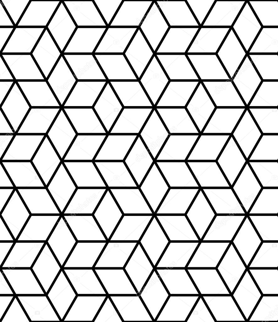 Seamless geometric pattern with cubes. — Stock Vector