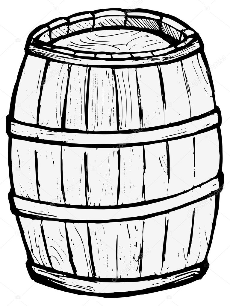 Keg Coloring Pages Sketch Coloring Page