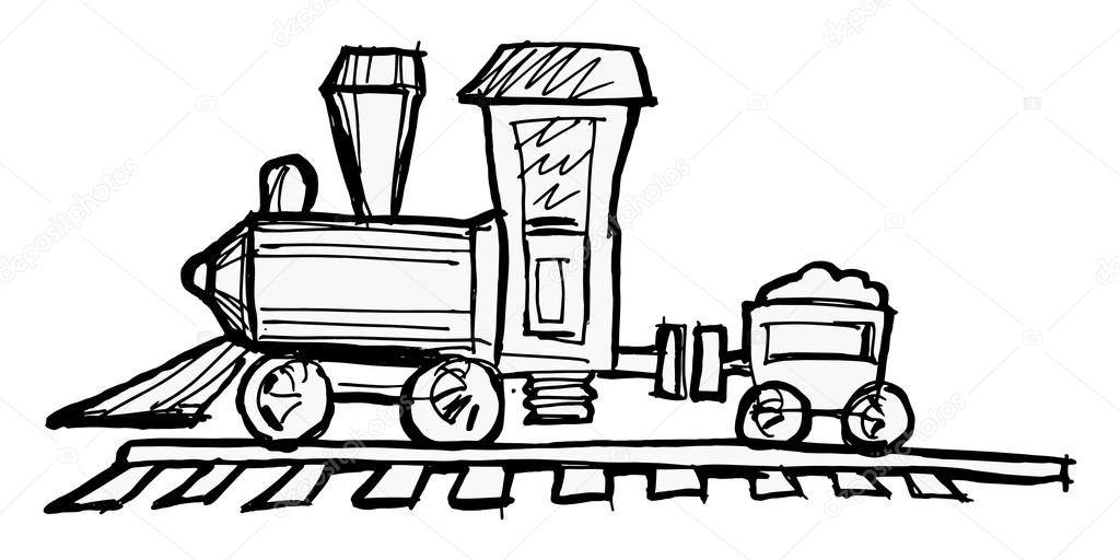 Toy steam engine train — Stock Vector © Perysty #19711513
