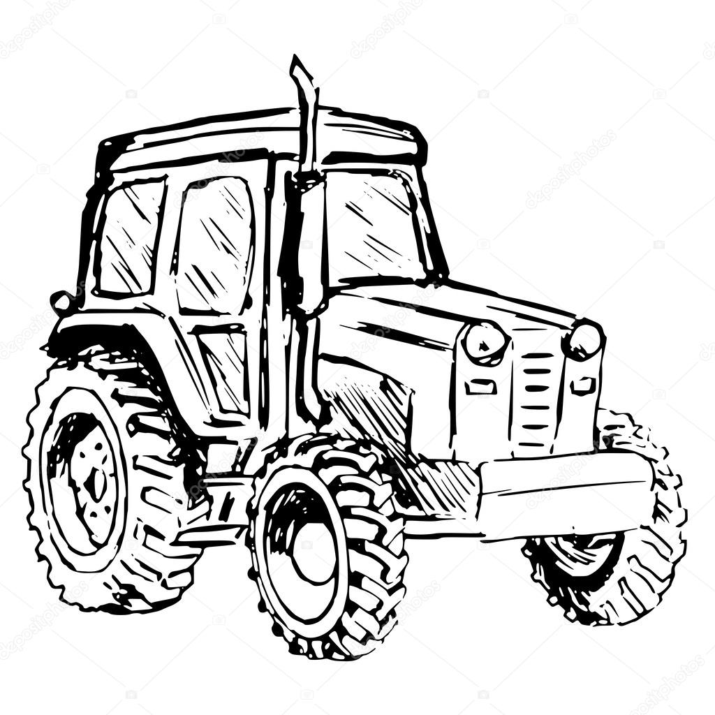 Traktor — Stock Vektor © Perysty #46119531