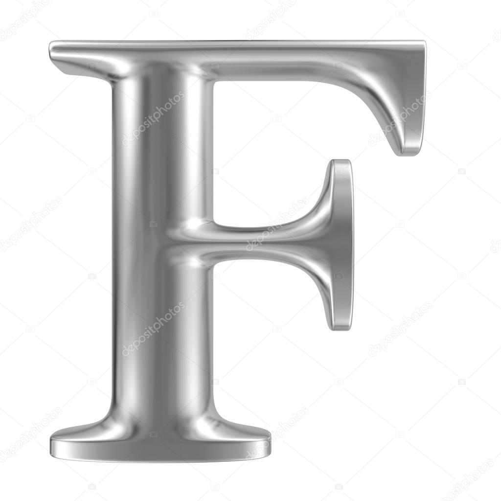 Aluminium font letter F — Stock Photo © smaglov #34329587
