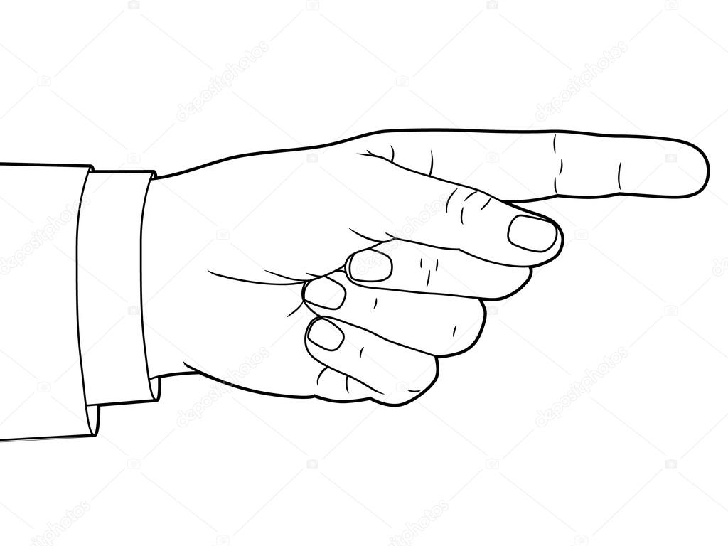 Hand Sign With Pointing Finger Vector