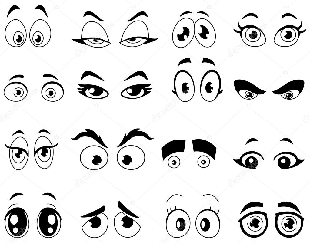 Outlined cartoon eyes — Stock Vector © yayayoyo #21523585