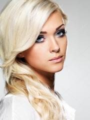beautiful blond woman with long
