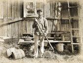 Farmer holding a pitchfork — Stock Photo © photography33 #7672754