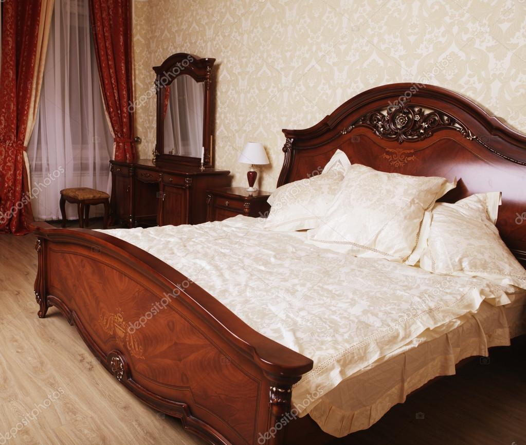 moderne slaapkamer interieur in klassieke stijl
