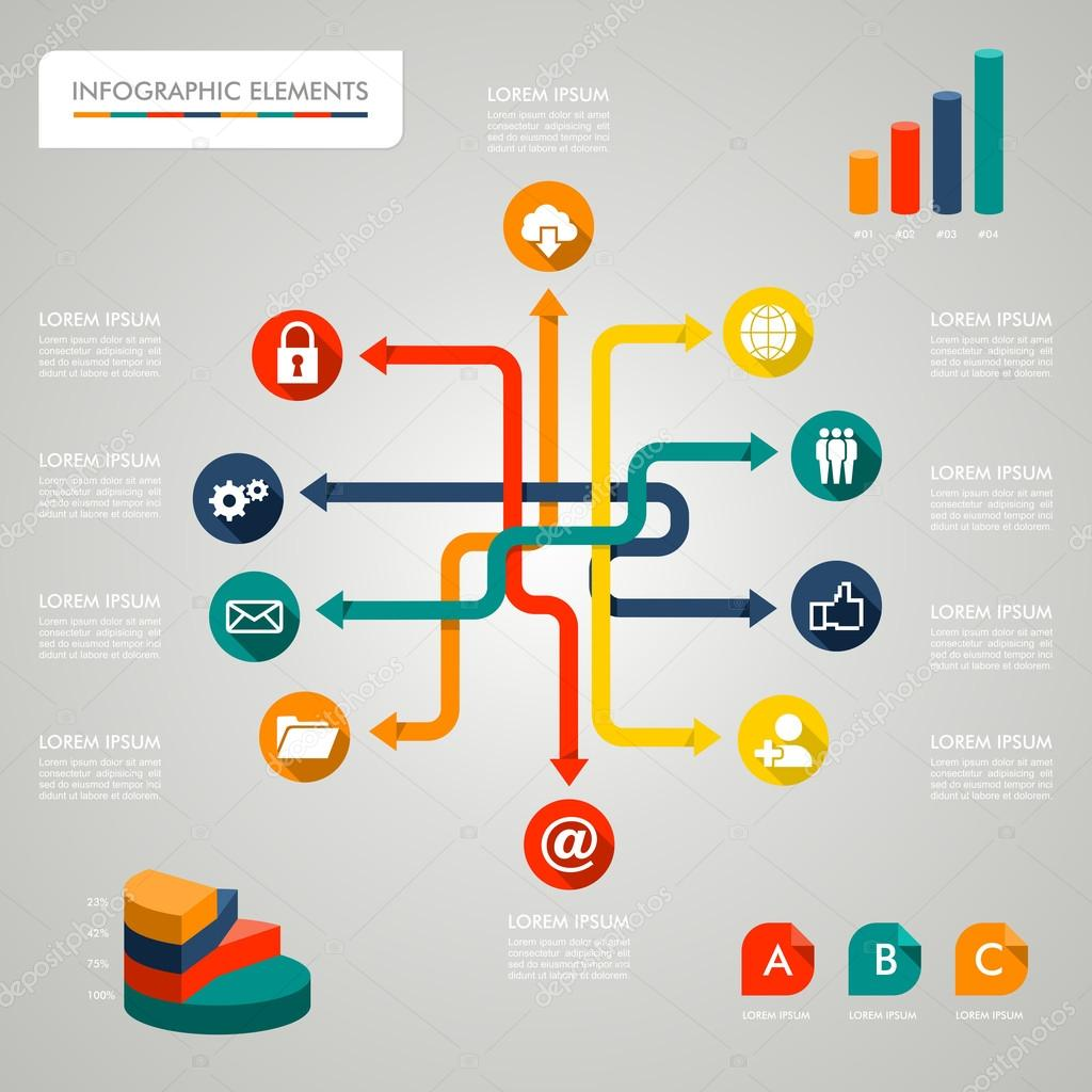infographic diagram icons network