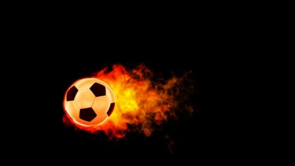 soccer fireball in flames