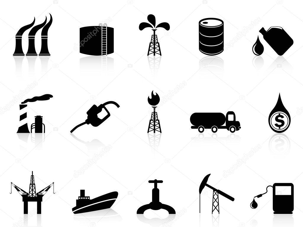 Olie Industrie Pictogram