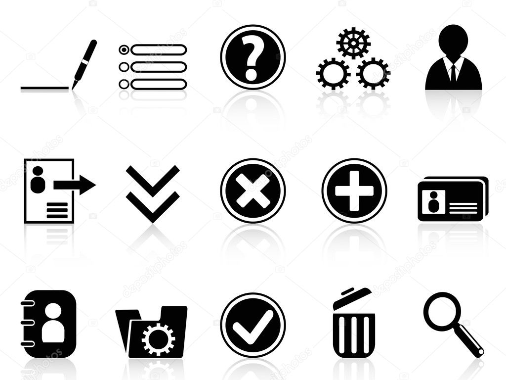 Black internet Account Settings icon — Stock Vector