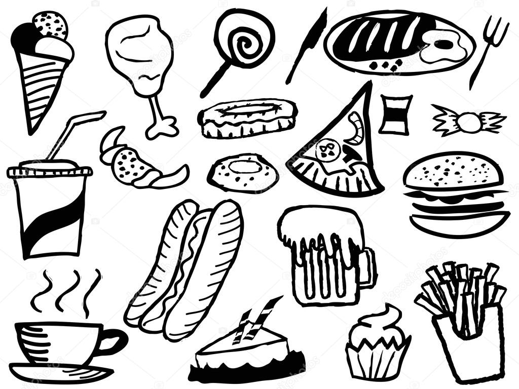 Fast Food Coloring Pages Cute Coloring Pages
