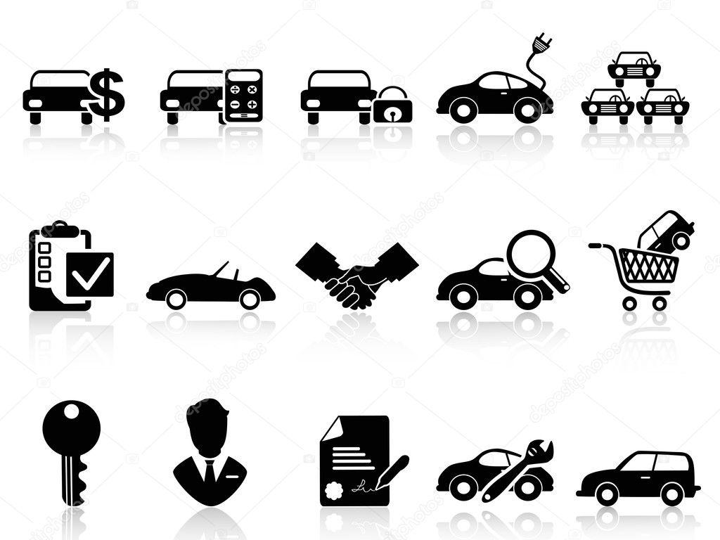 Car dealership icons set — Stock Vector © huhulin #32459151