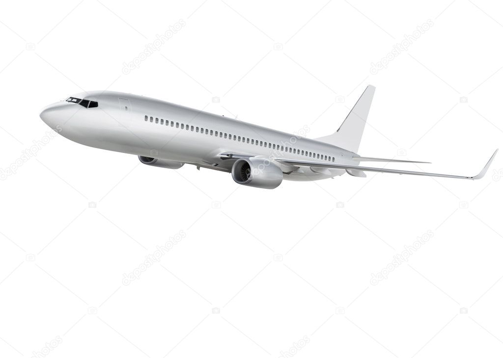 airplane on white background