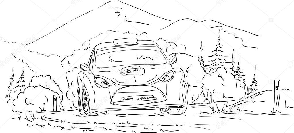 Rally car — Stock Vector © pavelmidi #14816315