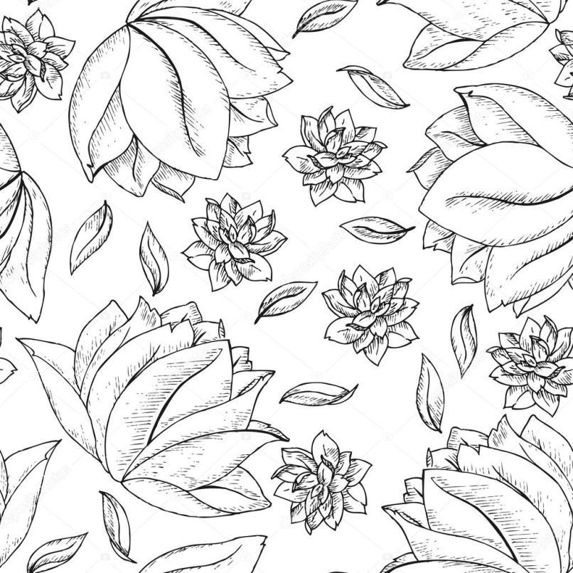 Easy Flower Pattern To Draw Wajiflower Co