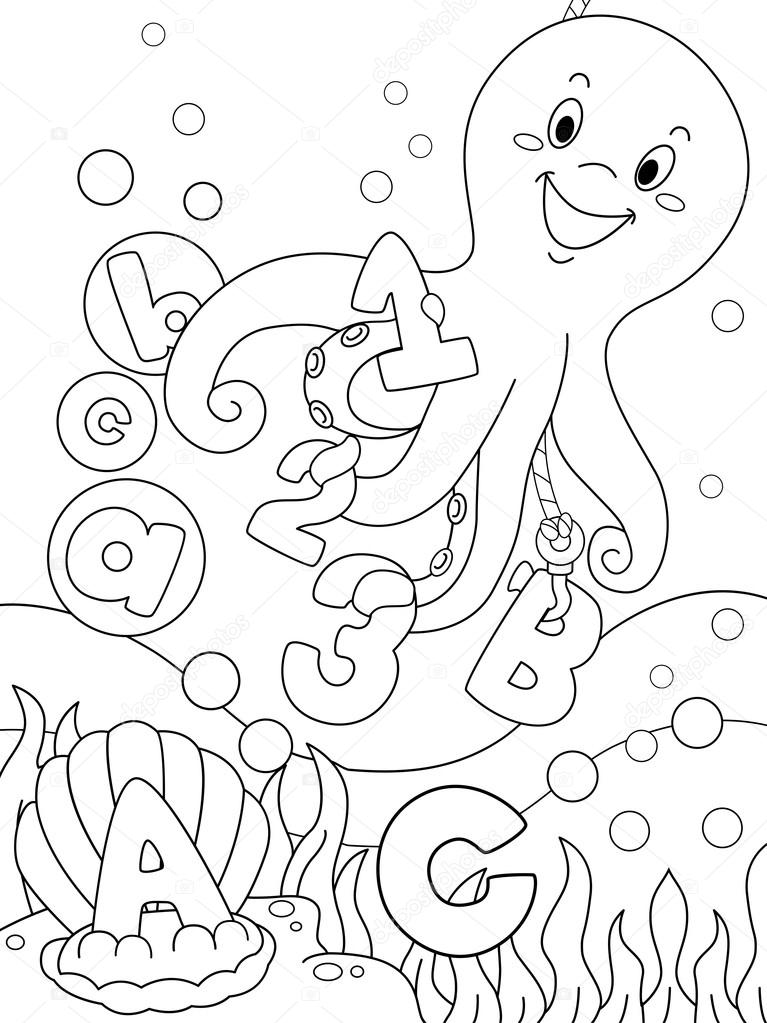 Underwater Coloring Page — Stock Photo © lenmdp #14532395
