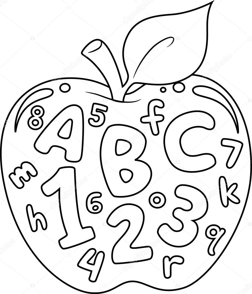 Free numbers and letters coloring pages