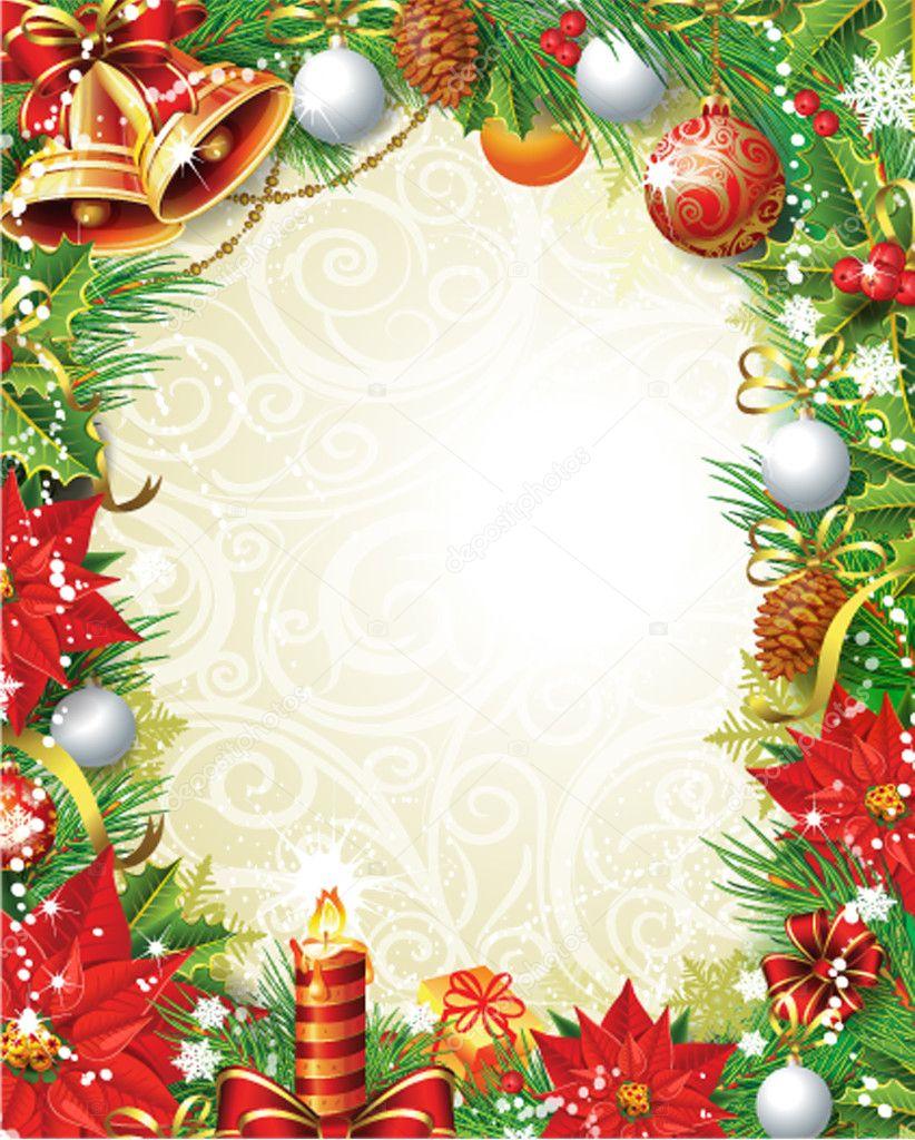 Vintage Christmas frame  Stock Vector  wikki33 14509651