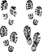 Vettoriali stock Stampa di piede, Illustrazioni Stampa di