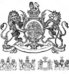 vector clipart of victorian lion crests stock vector [ 1024 x 1024 Pixel ]