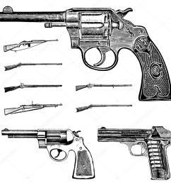conjunto de gr ficos pistola y rifle vintage angustiados ideal para cualquier dise o vintage vector de  [ 1024 x 1024 Pixel ]