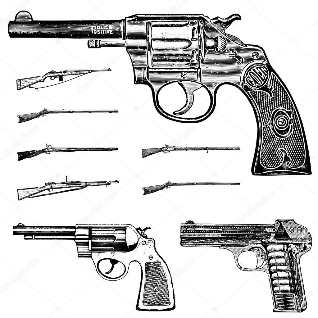 hight resolution of conjunto de gr ficos pistola y rifle vintage angustiados ideal para cualquier dise o vintage vector de